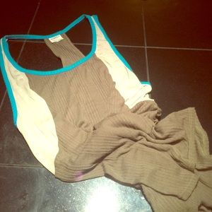 FREE PEOPLE Intimates M/L olive/taupe/turquoise