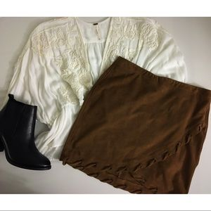 EXPRESS faux suede skirt🍂