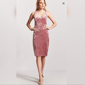 Crushed Velvet Midi Dress BNWT