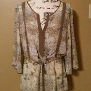 New York & Company chiffon blouse M