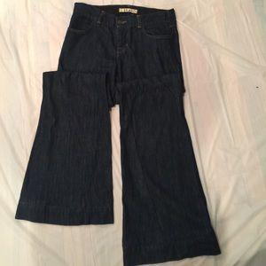 J Brand Wide Leg Flare Jeans Size 27