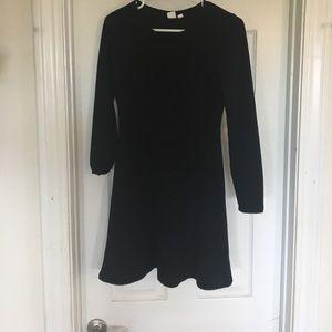 Gap black long sleeve dress - XS