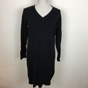 🆕NWOT Black Vneck Sweater Dress Tunic