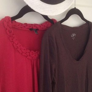 Loft & Talbots Bundle long sleeves tees shirts