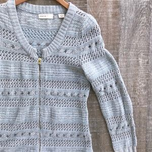 Sleeping on Snow(Anthro)pixie dust zip-up cardigan