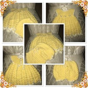 ❤️4 for $20❤️ Infant Girl Hand Knit 2-PC Outfit