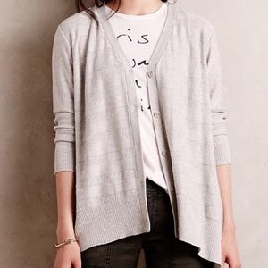 Anthropologie Left Of Center Gray Cardigan