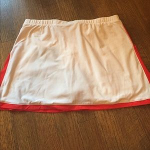 Nike Tennis skirt white with red trim