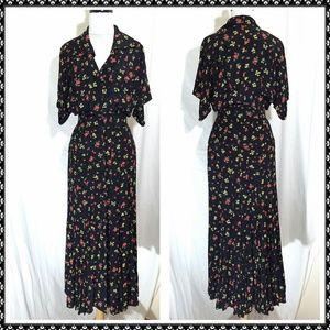 vintage 40s look KAREN ALEXANDER rayon dress 6