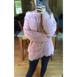 🍁 Vintage Blush Detailed Chunky Knit Sweater 🍁