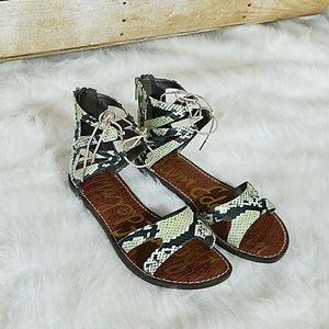 Sam Edelman Snake Print Sandals Sz 8.5