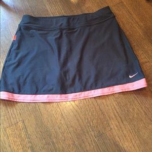 Nike Tennis Skirt Coral and Dark Grey