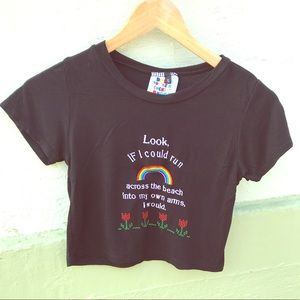 O Mighty If I Could Run... Baby Doll style tee S