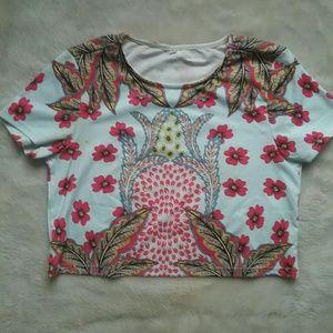 Multicolored Psychedelic Crop Top