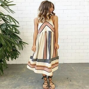 Boho halter chiffon dress