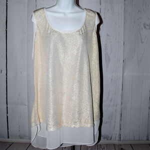 Worthington Woman size 2x gold shimmery camisole