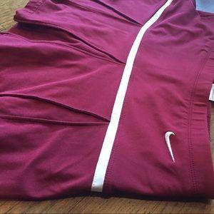 Nike Maroon Pleated Tennis Skirt