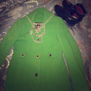 Brilliant Emerald Green Calvin Klein Peacoat