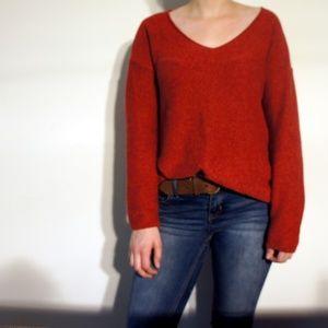 Red Orange Old Navy Sweater