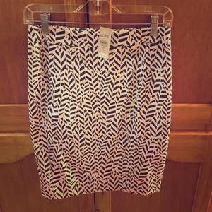 NWT Loft Pattern Pencil Skirt