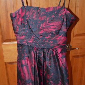 BCBG Red and Black Bubble Hem Dress