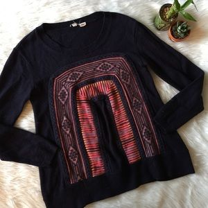 Moth Stitch Front Sweater Pullover