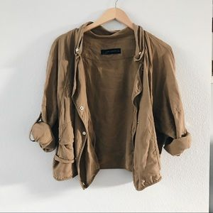 Zara • Cropped Utility Safari Jacket