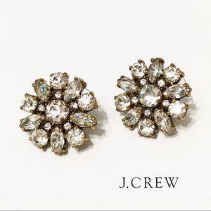 J. Crew Crystal Flower Earrings