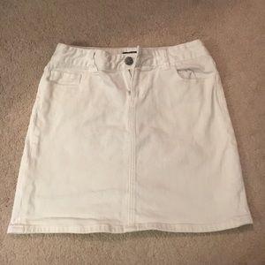 White J Crew Jean skirt