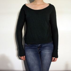 American Eagle Outfitters Cropped Emerald Sweater