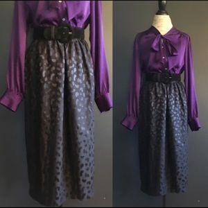Vintage Silk Midi Skirt