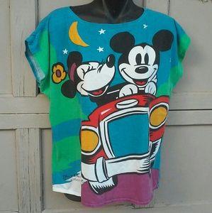 Vintage Mickey Mouse Minnie Mouse T Shirt Kawaii