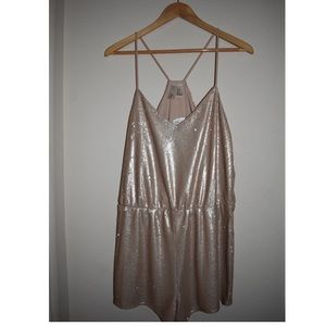 Gold sequin romper