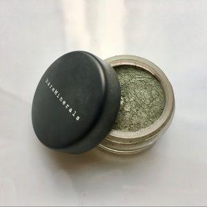 Metallic green eyeshadow