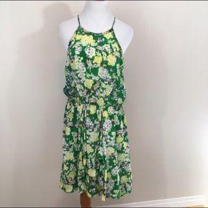Rebecca Taylor Floral Garden Silk Dress Size 10