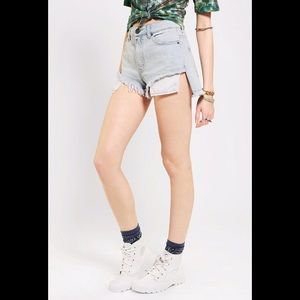 Urban Outfitters high low cutoff jean shorts