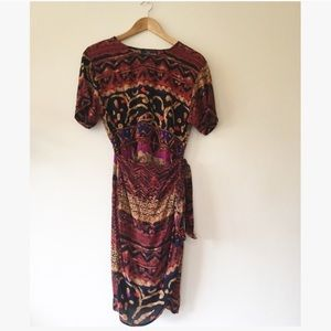 Vintage Tribal Print Sarong Dress
