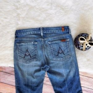 "7 For All Mankind Bling ""A"" Pocket Jeans Pants"