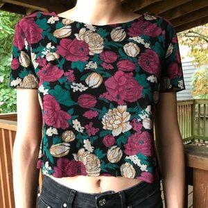 Vintage Rose Crop Top
