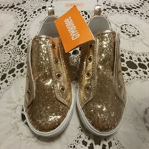 Gymboree Gold Sparkle Slip On Shoes NWT