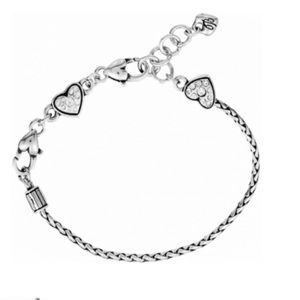 BRIGHTON ABC Heart Charm Holder Bracelet NWT