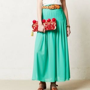 Anthropologie Maeve Zocalo Maxi Skirt Side Slits