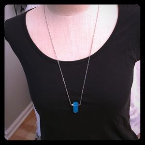 New necklace with blue stone