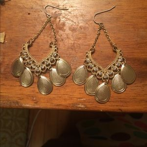 Gold Statement Chandelier Earrings