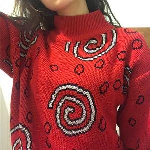 vintage swirly sweater