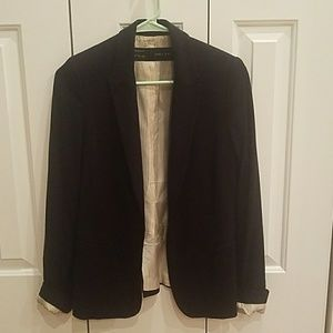Zara black basic blazer