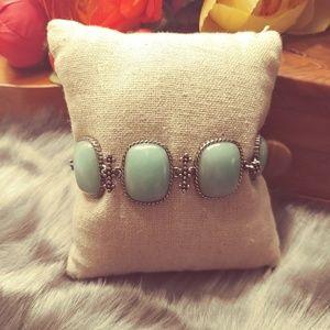 Lucky Brand stone & antique silver toggle bracelet
