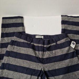 Gap Slim Cropped Striped Career Pants Women's 2
