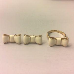 Kate Spade Bow Tie Earrings & Ring