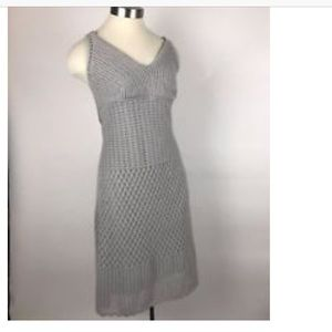Athleta Dress Gray Knit Crossback Stretch